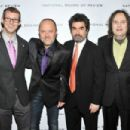 Lars Ulrich, Joe Berlinger and Bruce Sinofsky attend the 2011 National Board of Review Awards gala at Cipriani 42nd Street on January 10, 2012 in New York City.