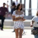 Olivia Culpo in Mini Skirt and Tank Top – Out at Venice Beach