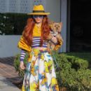 Phoebe Price with her dog in Beverly Hills - 454 x 681