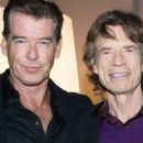 Pierce Brosnan & Mick Jagger - Party held at