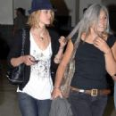 Keira Knightley And Her Mother Leaving Heathrow Airport, 8/17/2006