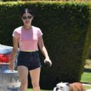 Lucy Hale – Stops by a friend's house in Studio City