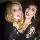 Friends Marie Helvin and Jerry Hall