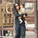 Salma Hayek - Takes Valentina To A Park In Beverly Hills 02/24/09