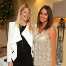 Meredith Ostrom and Sasha Volkova attend Daphne's evening of dinner & dancing at Daphne's on July 24, 2013 in London, England