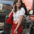 "Lindsay Price On Set Of ""Lipstick Jungle"" In Character As Victory Ford 2008-07-10"