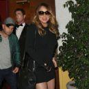 Mariah Carey At Dan Tanas Restaurant In West Hollywood