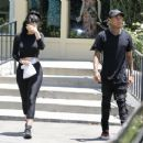 Kylie Jenner Having Lunch In Calabasas