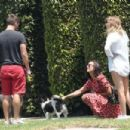 Nina Dobrev – Takes her dog Maverick out for a walk in LA August 7, 2017 - 454 x 302