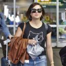 Lana Parrilla in Jeans Arrives back in Vancouver July 26, 2017
