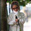 Caroline Flack – Walking her dog in London
