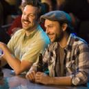 (L-r) JASON SUDEIKIS as Box and CHARLIE DAY as Dan in New Line Cinema's romantic comedy 'GOING THE DISTANCE,' a Warner Bros. Pictures release. Photo by Jessica Miglio