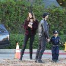 Alessandra Ambrosio & Family Out In Santa Monica - 454 x 383