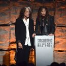 Aerosmith attends The Songwriters Hall Of Fame 44th annual Induction at the NY Marriott Marquis on June 13, 2013 - 454 x 335
