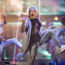 Justin Bieber performs during the 2016 Purpose World Tour at Staples Center on March 20, 2016 in Los Angeles, California