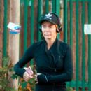 Amanda Holden in Tights Jogging in London - 454 x 561