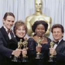 Jeremy Irons, Kathy Bates, Whoopi Goldberg and Joe Pesci At The 63rd Annual Academy Awards - 454 x 302
