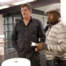 Director Steve Shill (left) and Producer Will Packer on the set of Screen Gems' thriller OBSESSED. Photo By:  Suzanne Tenner. © 2009 Screen Gems, Inc. All rights reserved.