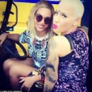 Amber Rose and Beyonce at the Made in America Music Festival in Philadelphia, Pennsylvania - September 1, 2013 - 454 x 439