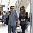 Kate Beckinsale and Len Wiseman at Nice Airport