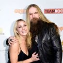 Zakk Wylde & Barbaranne at Classic Rock And Roll Honour 2014 Award Ceremony at Avalon on November 4, 2014 in Hollywood, CA - 454 x 329