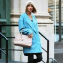 Taylor Swift is seen leaving her home in New York City, New York on December 11, 2014