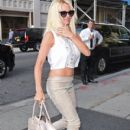 Pamela Anderson seen returning to the Trump Soho Hotel in New York City, New York on September 10, 2014