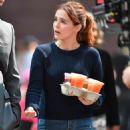 Zoey Deutch on 'Set It Up' set in New York City