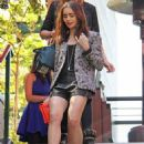 Lily Collins at the Farmer's Market in West Hollywood, CA (March 27)