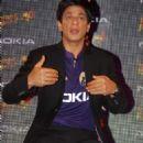 Shahrukh at Nokia Kolkata Knight Riders Press Conference