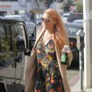 Busy Phillips in Floral Mini Dress out in West Hollywood - 454 x 545