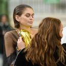 Kaia Gerber – Chanel Haute Couture Backstage Show in Paris