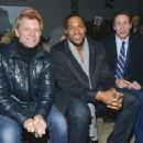 Jon Bon Jovi, Michael Strahan & Chris Cuomo attend the Kenneth Cole collection fashion show on February 10, 2014 in NYC - 454 x 357