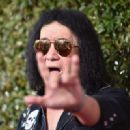Gene Simmons of music group KISS attends the John Varvatos 13th Annual Stuart House benefit presented by Chrysler with Kids' Tent by Hasbro Studios at John Varvatos Boutique on April 17, 2016 in West Hollywood, California