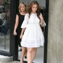 Jennifer Love Hewitt - In Short Dainty White Dress While Shopping In Robertson - Oct 26 2007