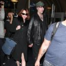 Goth Singer Marilyn Manson And His Girlfriend Lindsay Usich Arriving On A Flight At Lax Airport In Los Angeles - 441 x 594