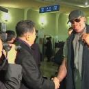 Kim Jong Un and Dennis Rodman Shake Hands For First Time
