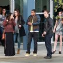 Shenae Grimes of 90210 film scenes for the hit show in Los Angeles