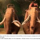 Mammoths Manny (voice by Ray Romano) and Ellie (voice by Queen Latifah), along with possums Crash (voice by Seann William Scott) and Eddie (voice by Josh Peck), traverse a dangerous underground world of dinosaurs. Photo credit: Blue Sky Studios. ©2009 Twe