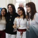 Sheryl and Alice Cooper from The Hollywood Vampires attend the Starkey Hearing Foundation event to support and benefit people in need at Belmond Copacabana Palace on September 24, 2015 in Rio de Janeiro, Brazil.
