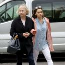 Emilia Clarke with her mother out in London - 454 x 468