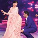 Deepika Padukone & Arjun Kapoor at the screening of the movie Finding Fanny in Mumbai. September 10, 2014 - 454 x 494
