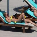 Rhian Sugden in Yellow Bikini in Ibiza - 454 x 365