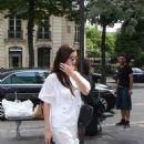 Bella Hadid in White – Leaving Royal Monceau hotel in Paris