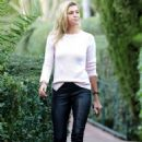 Kelly Rohrbach in Leather Pants – Heads to the Beverly Hills Hotel in Beverly Hills