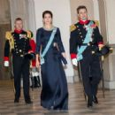 Crown Princess Mary Elizabeth of Denmark and Kronprins Frederik : New Year's Reception at Christiansborg Palace - 2015 (January 6, 2015) - 454 x 449