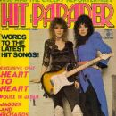 Ann Wilson, Nancy Wilson - Hit Parader Magazine Cover [United States] (November 1980)