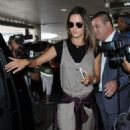 Alessandra Ambrosio Arrives on a Flight at LAX - 454 x 597