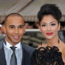 Nicole Scherzinger and Lewis Hamilton arrive for the UK Premiere of 'Men In Black III', in London's Leicester Square