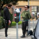 Pete Wentz is spotted out for lunch in Studio City, California with a friend on January 9, 2017 - 454 x 344